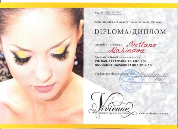 Сертификаты на наращивание ресниц в Волжском